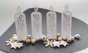 Papercut: DIY-Adventskranz aus Papier