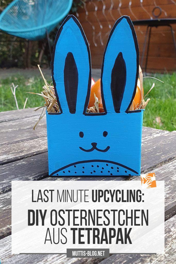 Last Minute Upcycling: DIY Osterhasennestchen aus Tetrapak