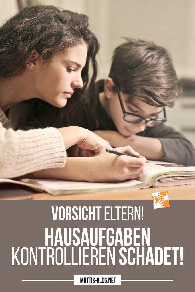 Hausaufgaben kontrollieren schadet